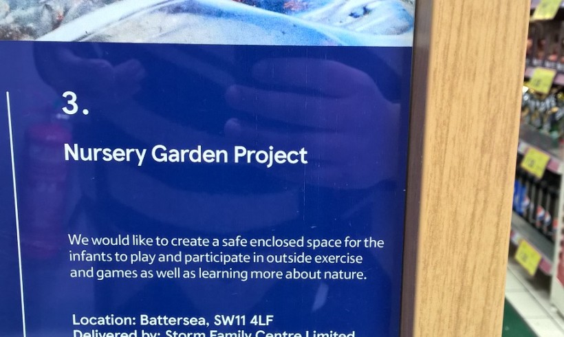 Support our Nursery Garden Project at your local Tesco Store