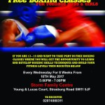 Free Boxing classes at S.T.O.R.M  sessions provided by the Jimmy Asher Foundation